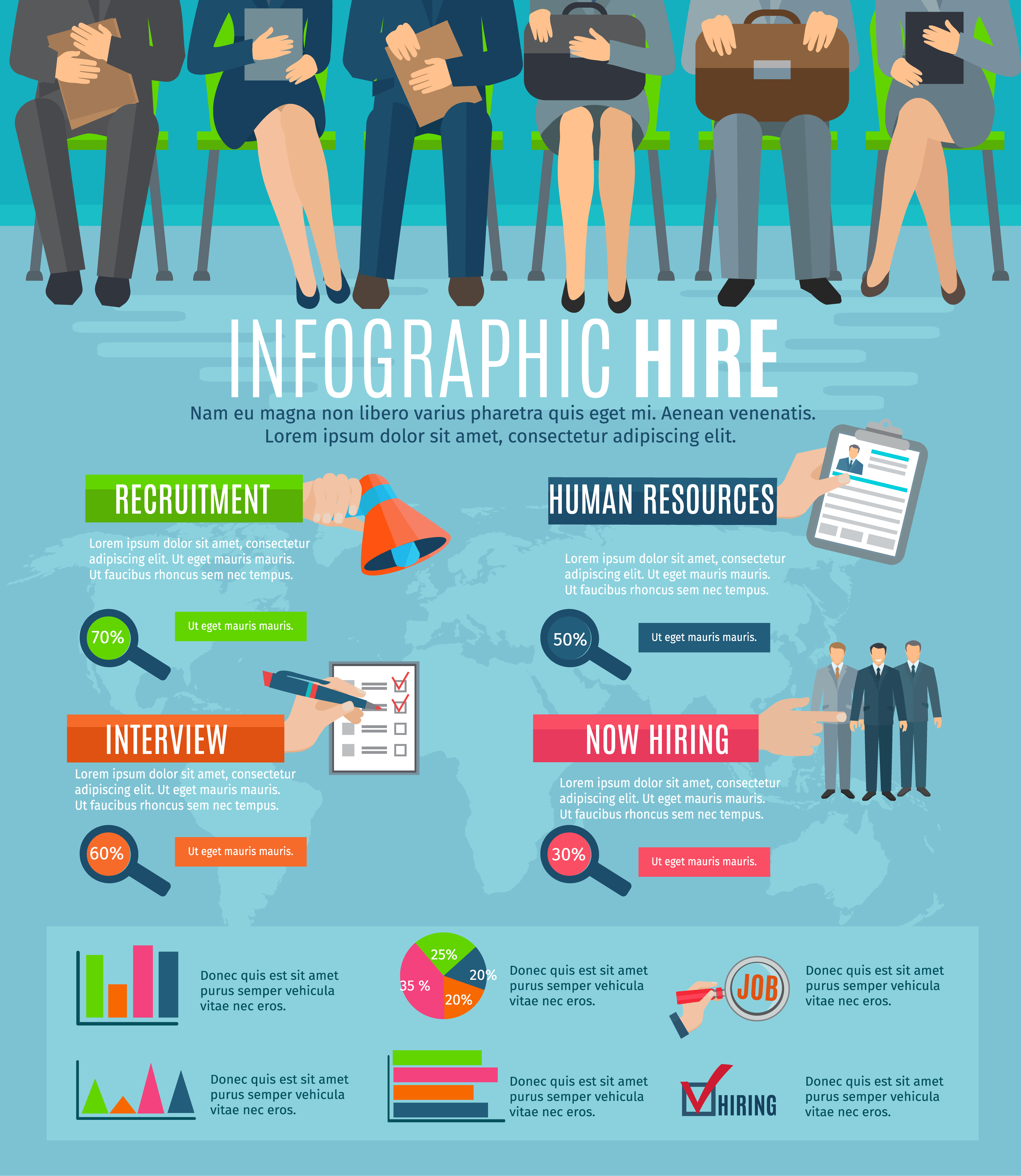 human resources hiring people infographic report