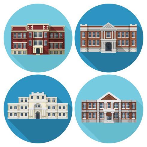 Skolbyggnad Flat