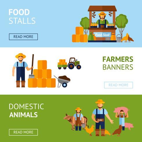 banner uppsättning bönder