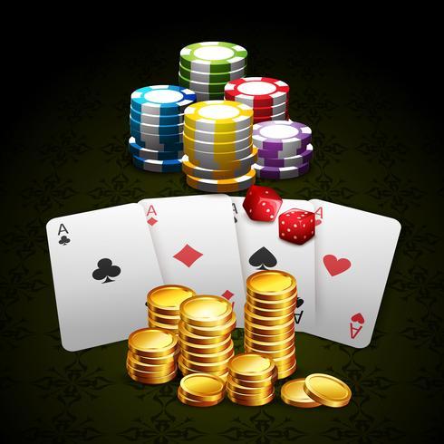 Casino och spel bakgrund vektor