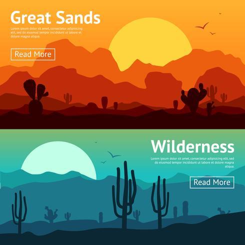 Ensemble de bannière de désert