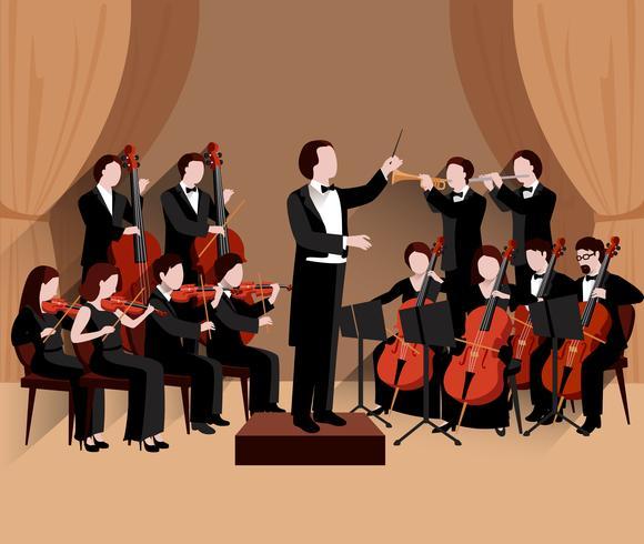 Symphonic Orchestra Flat vector