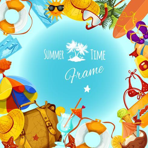 Cadre de vacances d'été