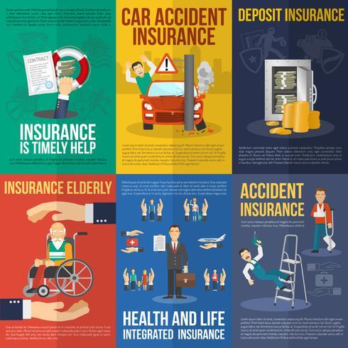 Conjunto de carteles de seguros