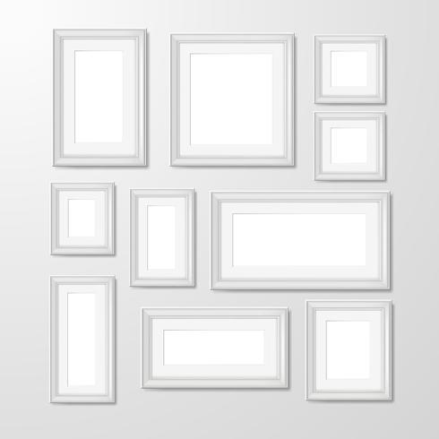 Ilustración de colección de marcos de foto de pared