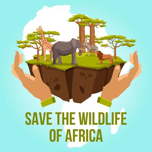 Red de natuur van Afrika-concept