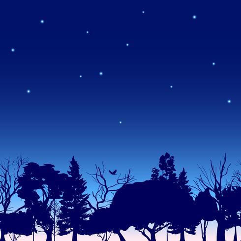 Waldgrenze Bäume Skizze