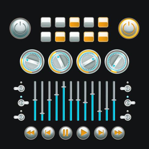 Knop Set Colored vector
