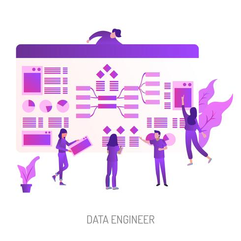 Data Engineer Conceptual illustration Design