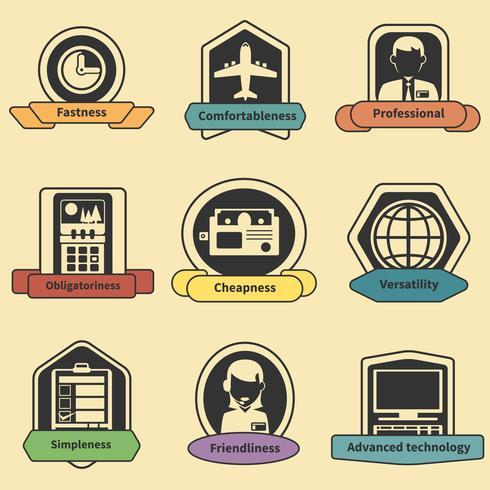 Emblemas logísticos de entrega de rapidez de transporte