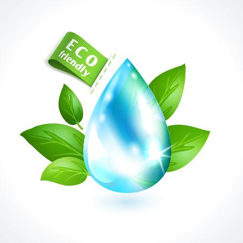 Gota de água de símbolo de ecologia