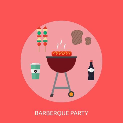 Ilustração conceitual de festa de Barberque Design