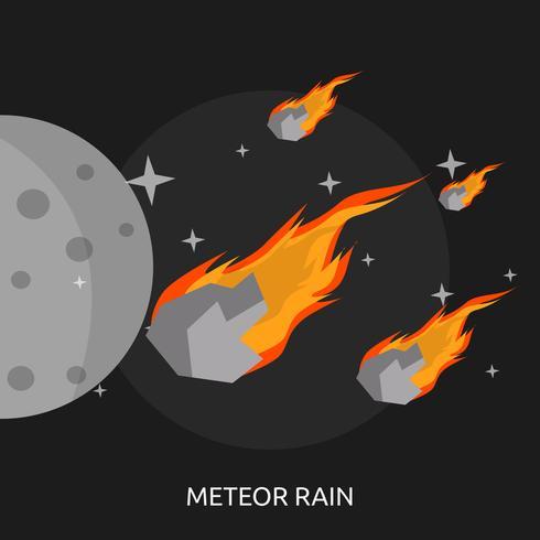 Progettazione concettuale dell'illustrazione della pioggia della meteora vettore