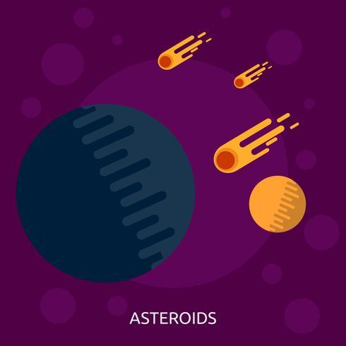 Astéroïdes Illustration conceptuelle Design