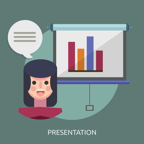 Presentazione illustrazione concettuale Design