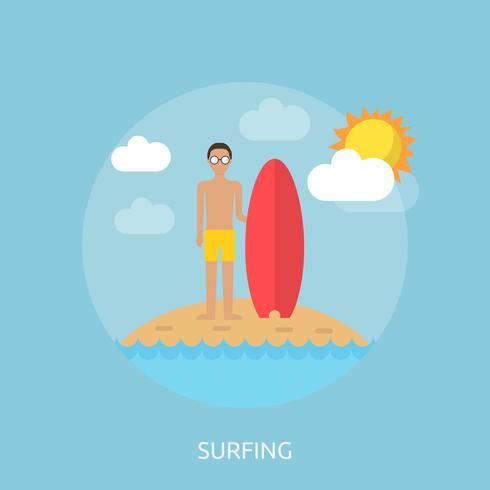 Surfing Conceptual illustration design