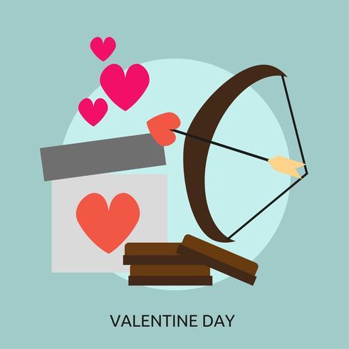 Ilustração conceitual do dia dos namorados Design