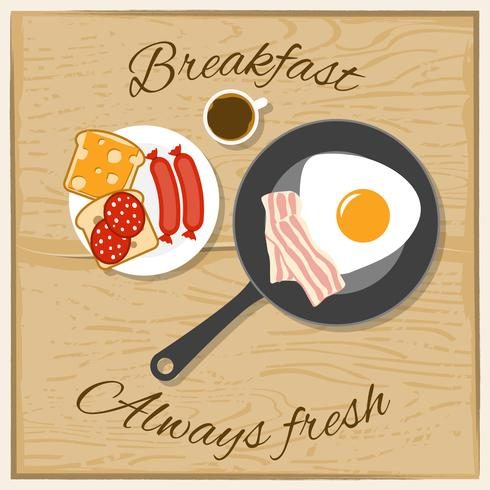 Breakfast Color Flat Concept
