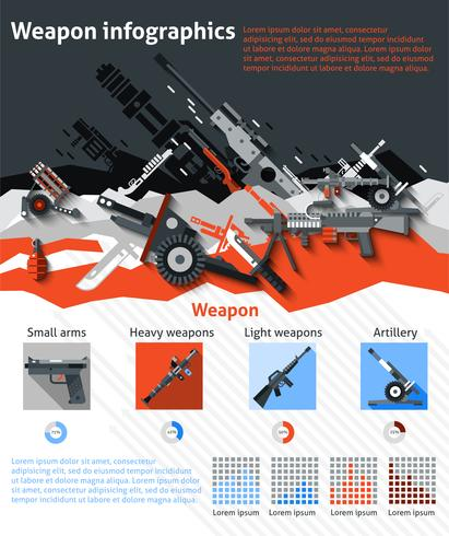 Weapon Infographics Set vector