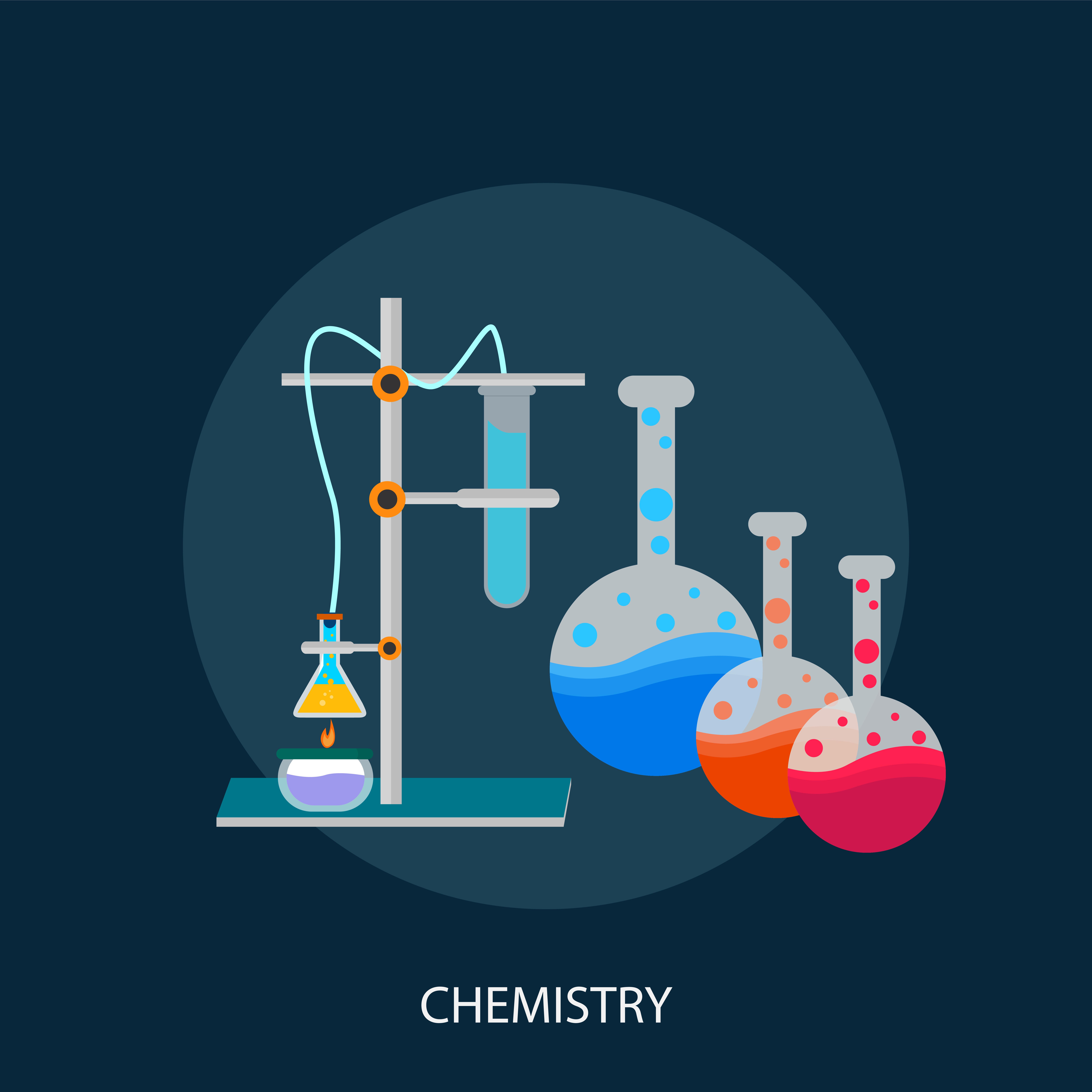 Science Laboratory Background Design: Chemistry Conceptual Illustration Design