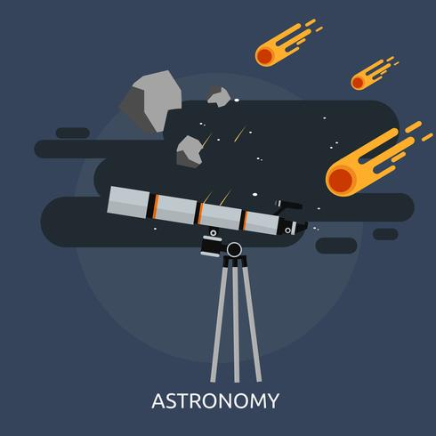 Astronomie konzeptionelle Darstellung Design
