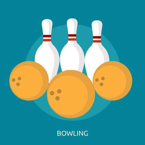 Bowling Conceptuele afbeelding ontwerp
