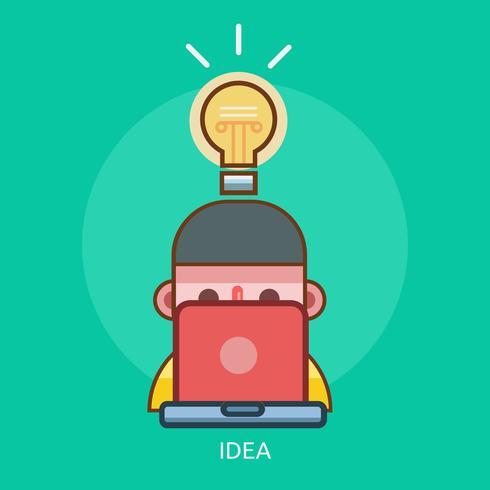 Idea Conceptual illustration design