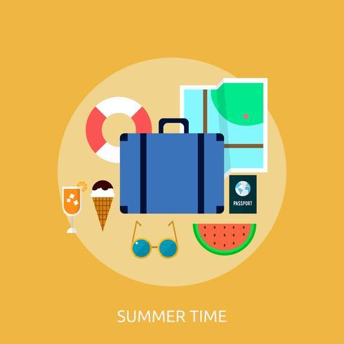 Ilustração conceitual de horário de verão Design