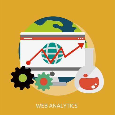 Ilustração conceitual de Web Analytics Design