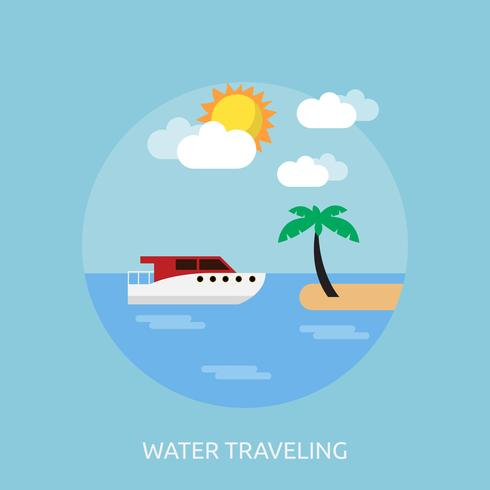 Water Traveling Conceptual illustration Design