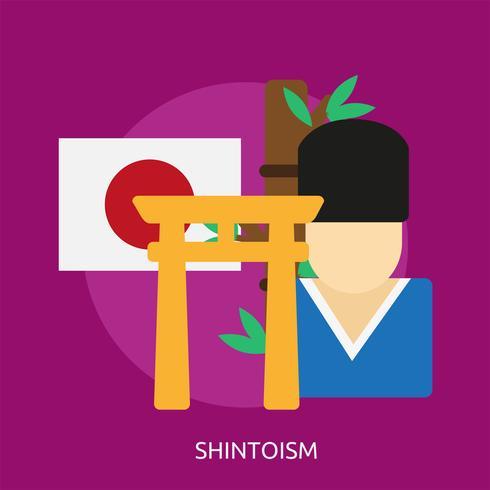 Shintoismus konzeptionelle Illustration Design