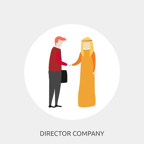 Direktör Företag Konceptuell illustration Design