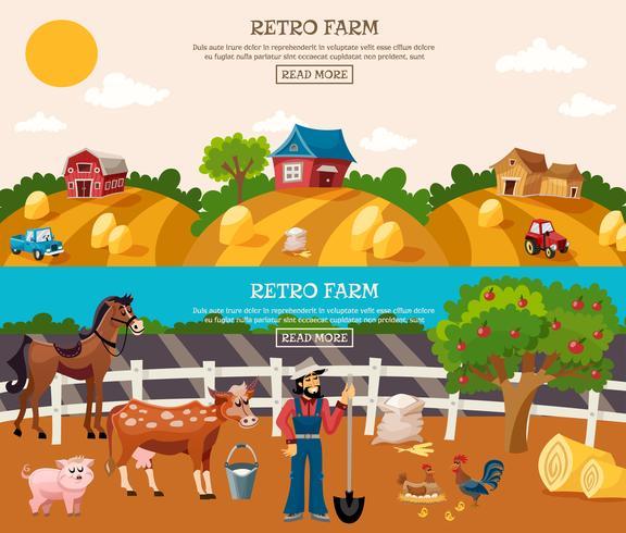 Conjunto de banner de fazenda