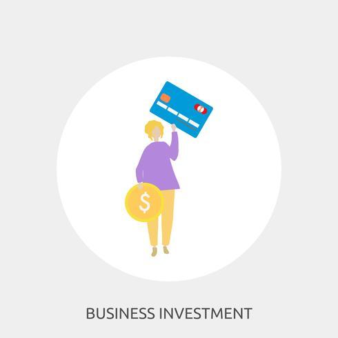 Ilustração conceitual de investimento empresarial