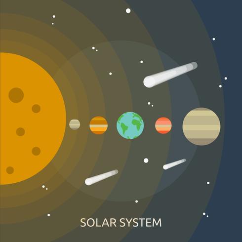 Ilustração conceitual do sistema solar Design