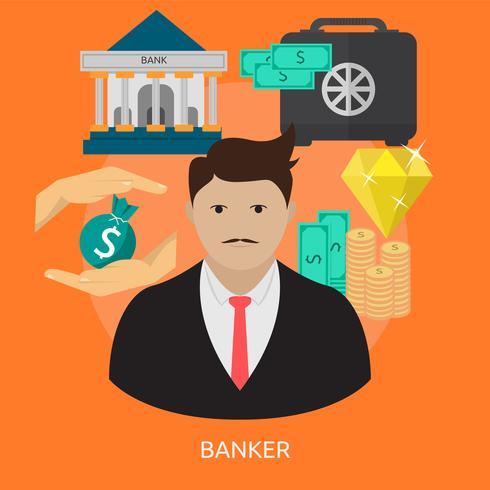 Banquier conceptuel illustration conception