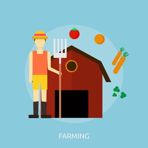 Farming Conceptual illustration Design