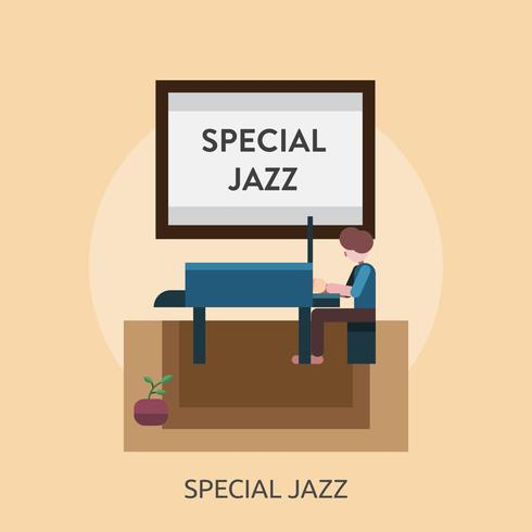 Special Jazz Conceptual illustration Design vector