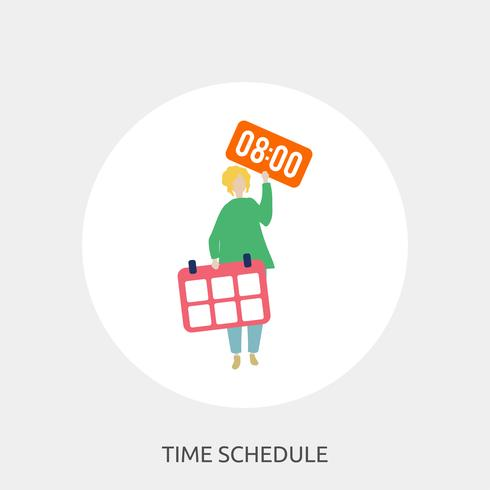 Time Schedule Conceptual illustration Design