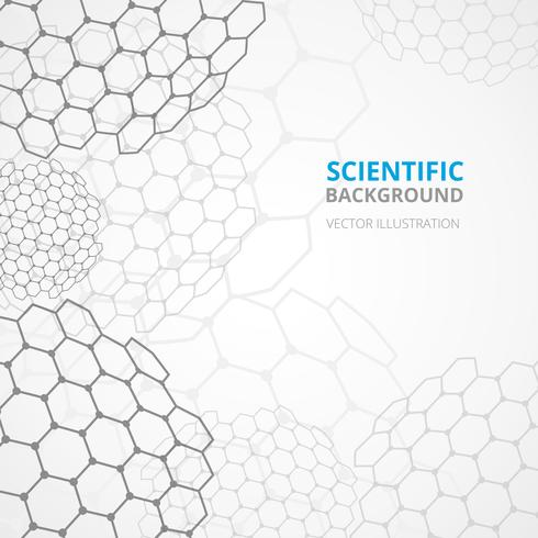 Science background template print