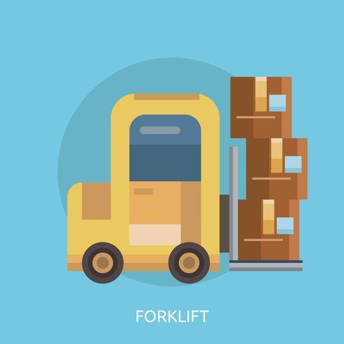 Gaffeltruck Konceptuell illustration Design