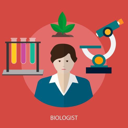 Bioloog Conceptueel illustratieontwerp