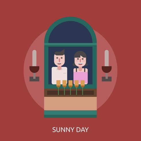 Ilustração conceitual de dia ensolarado