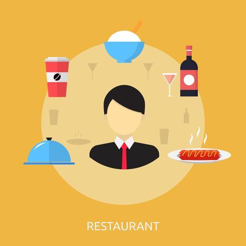 Ilustração conceitual de restaurante Design