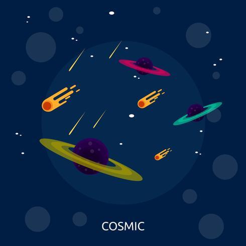 Cósmica conceptual ilustración diseño
