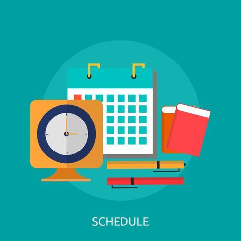 Schedule Conceptual illustration Design