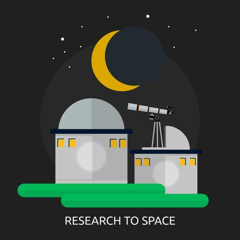 Research To Space Conceptual illustration Design
