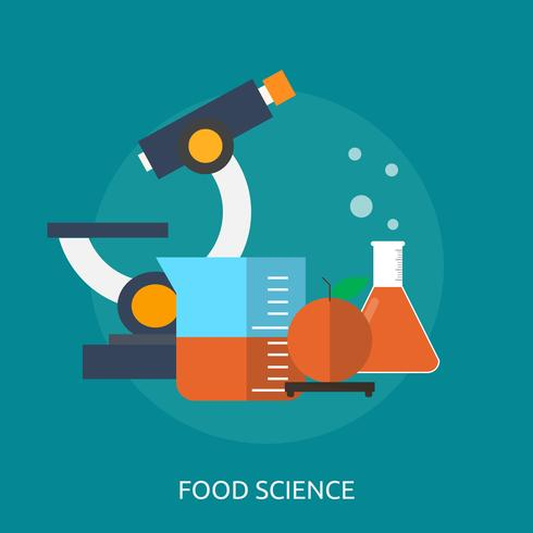 Ilustração conceitual de ciência alimentar Design