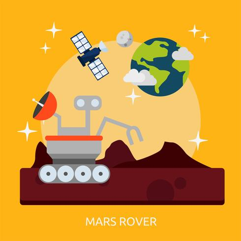 Ilustração conceitual de Mars Rover