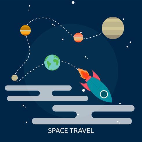 Ilustração conceitual de viagens espaciais Design